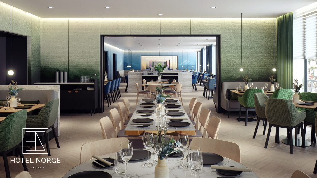 Hotel Norge Restaurant Design by Concrete Architects and MIR
