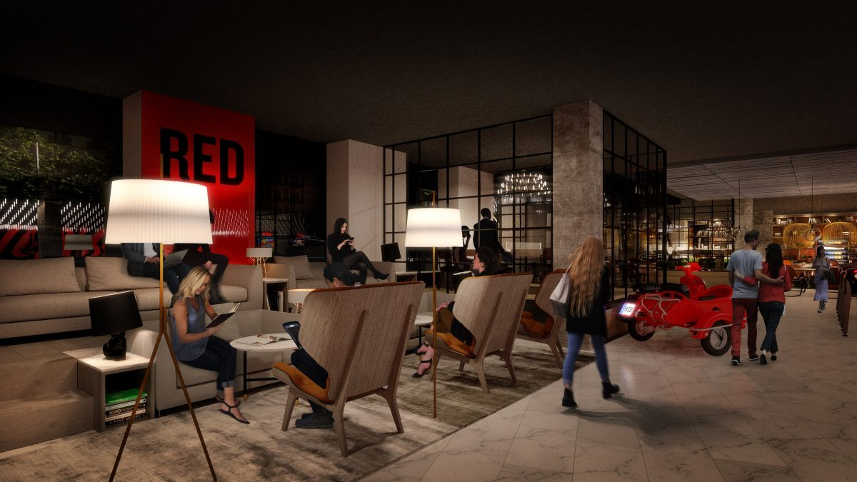 Illustration of the Radisson RED concept_Lobby