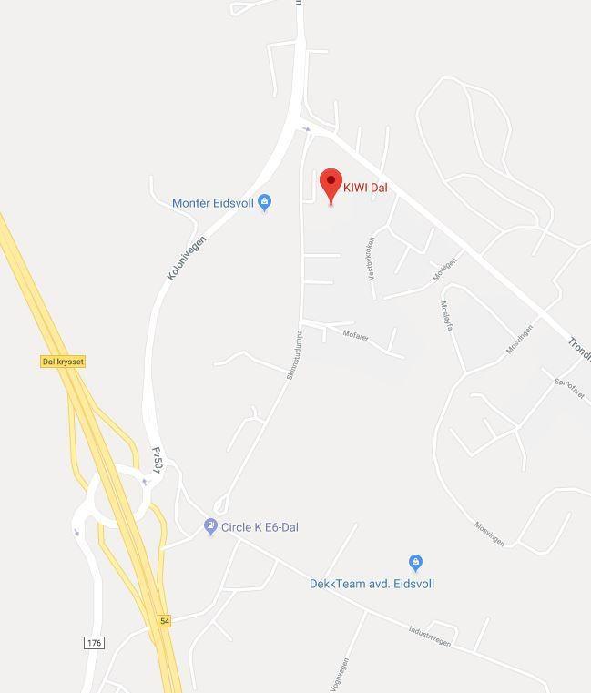 Sentralt på Dal i Eidsvoll kommune med rask adkomst E6