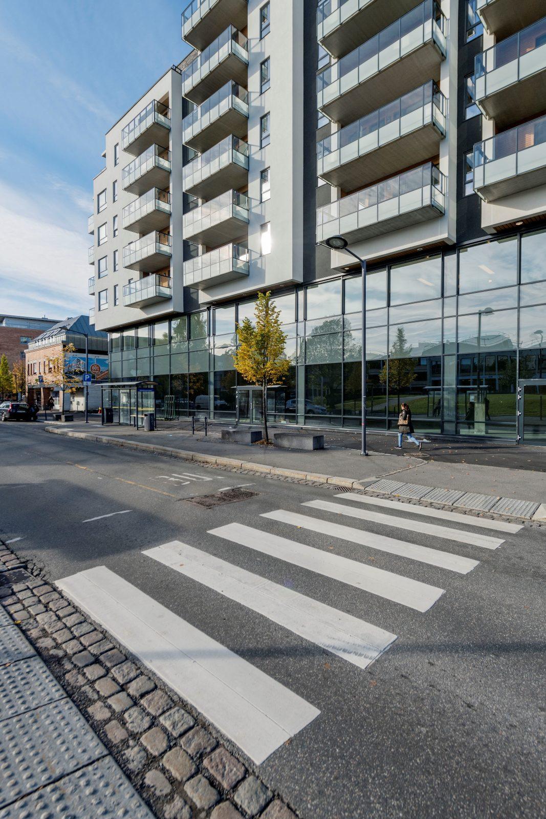 Kontorene er beliggende i byggets 2. etasje
