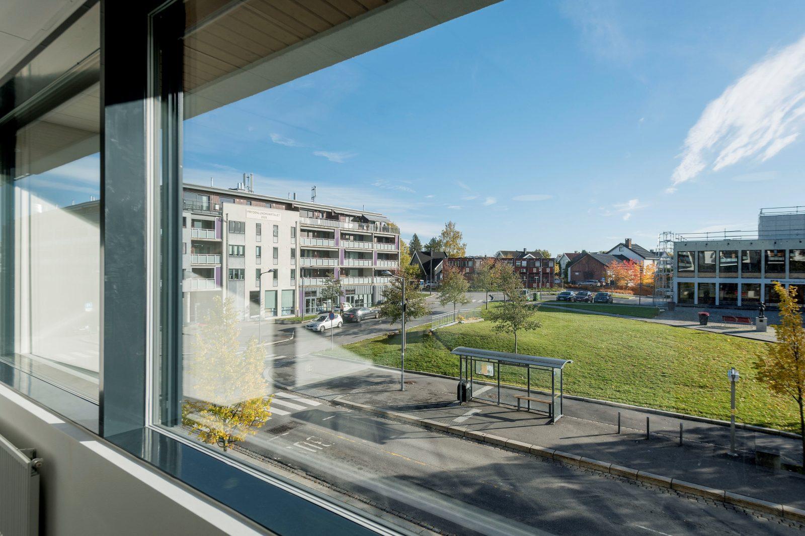 Utsikt fra kontor 2 etg