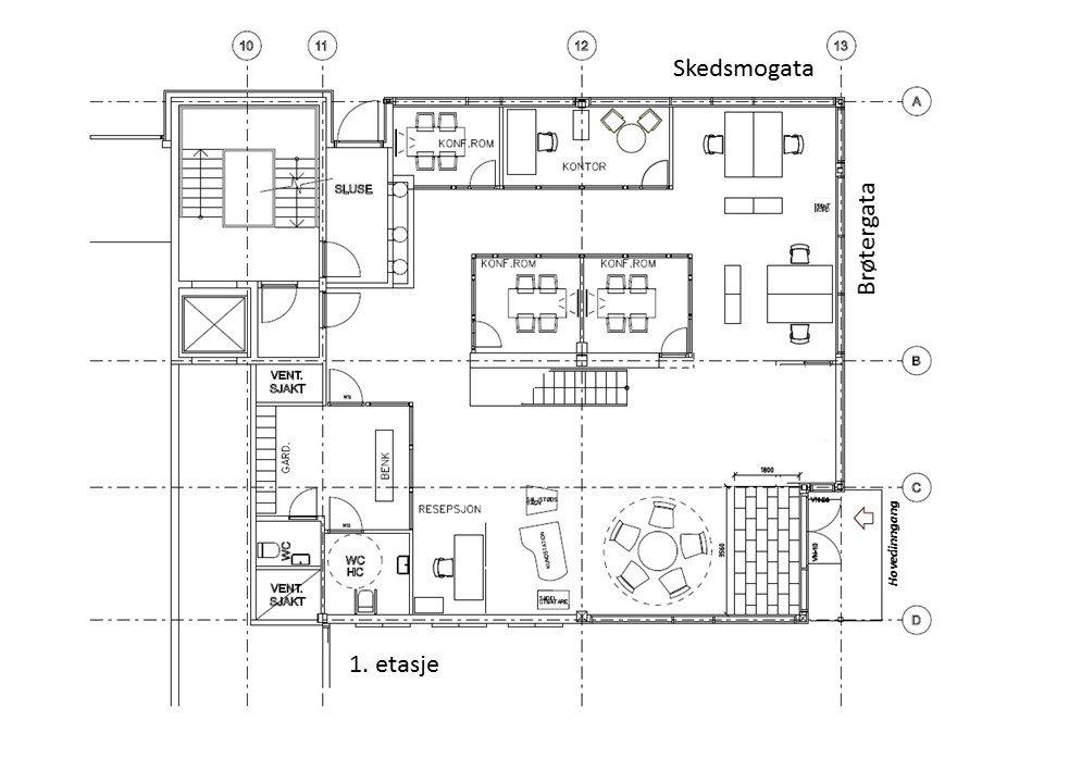 Planskisse Hapro 1. etasje