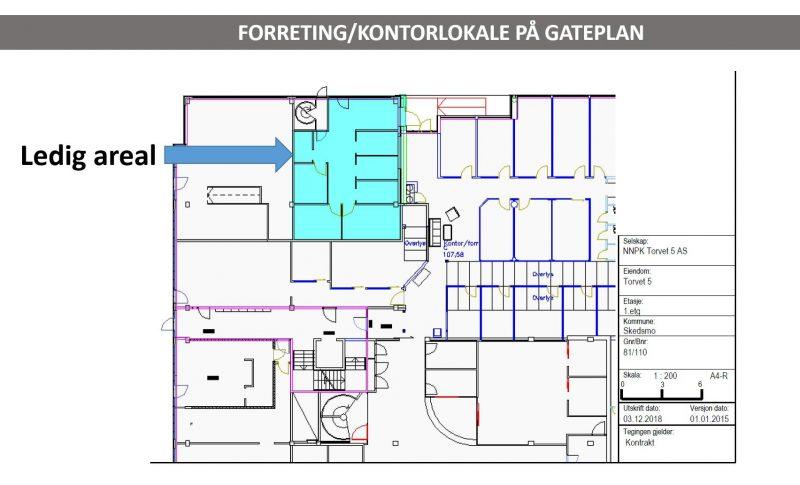 Plantegning Torvet 5, gateplan