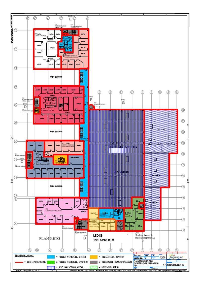 Planskisse 3. etasje - 144 kvm