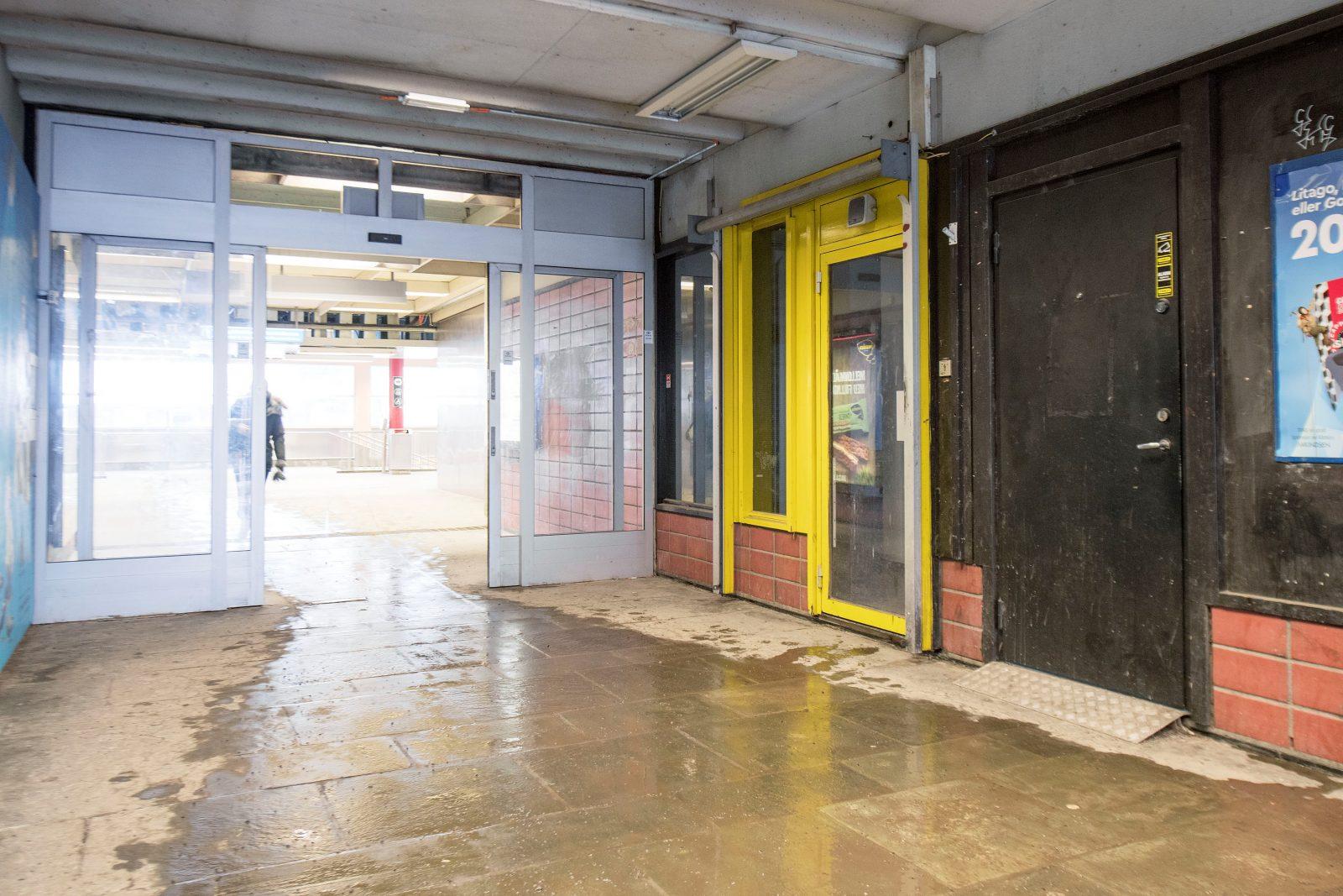 Inngang Lindeberg t-banestasjon