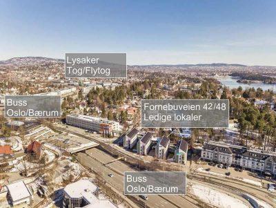 Lysaker/Fornebu. Kontorlokaler til leie. Fra 20-781 kvm.