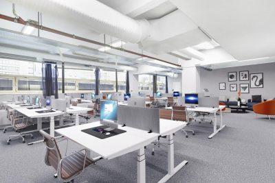 Oslo Sentrum - Renoverte kontorlokaler med god takhøyde. BTA 250 - 529 kvm. Rett ved T-banen.