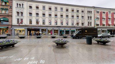Karl Johans gate/Paleet - Kontorlokale til leie. BTA 205 kvm.