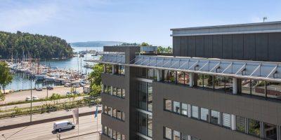 Portal Skøyen: Skreddersydde lokaler i representativ eiendom med sjøutsikt og god beliggenhet.